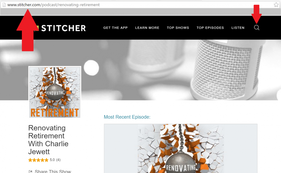 how to listen to podcasts on stitcher
